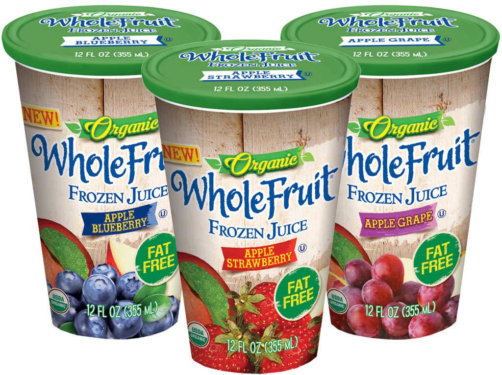 Whole Fruit Frozen Juice Cups Group Photo